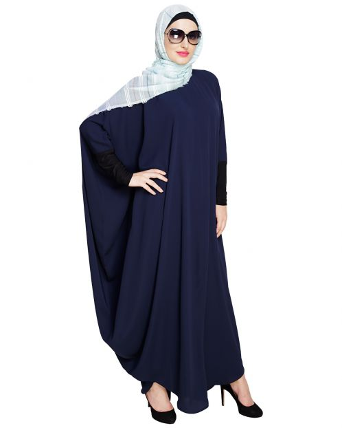 Quirky Jersy Sleeve Blue Kaftan
