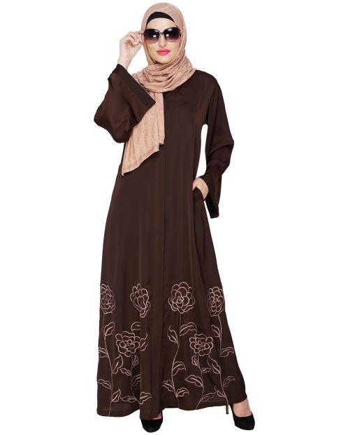 Mesmerising Brown Dubai Style Abaya