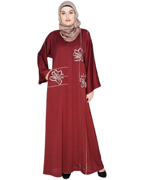 Stellar Wine Dubai Style Abaya