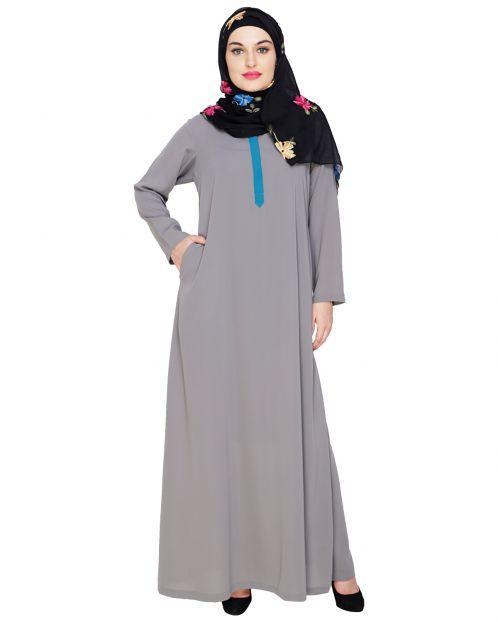 Sober Grey Abaya