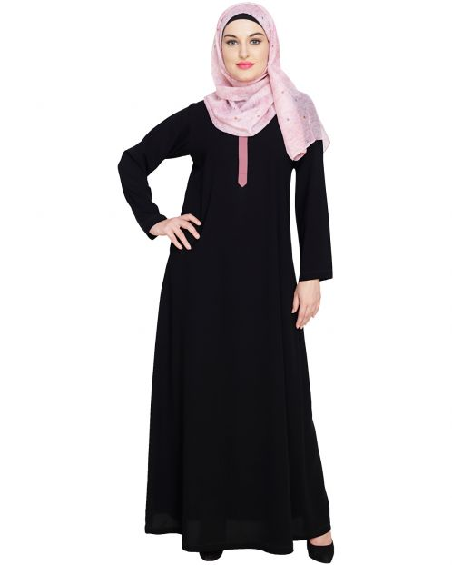 Sober Black Abaya
