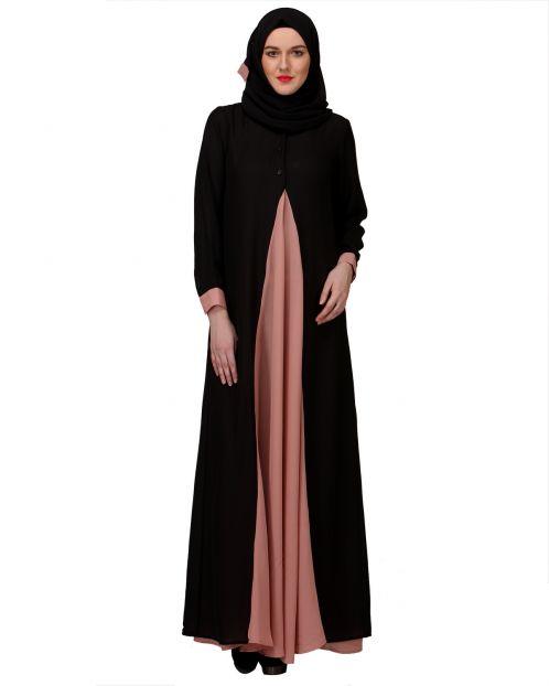 Pretty Pink Layered Abaya