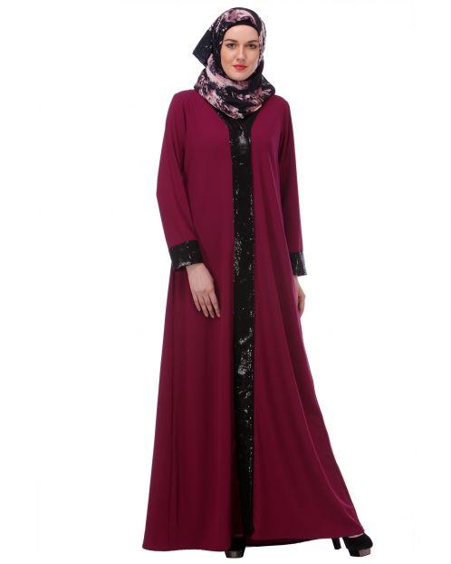 Falsa sequined Formal Abaya