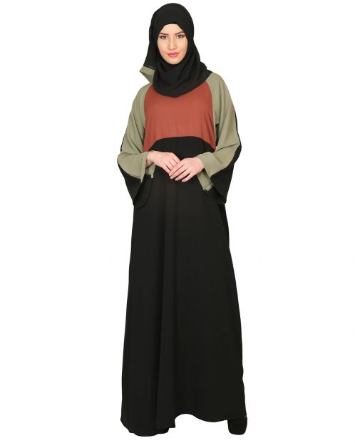 Color Block Designer Abaya