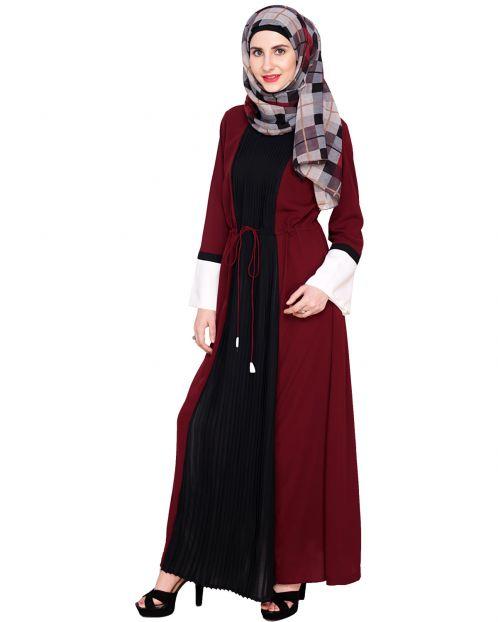 Front Pleated Abaya