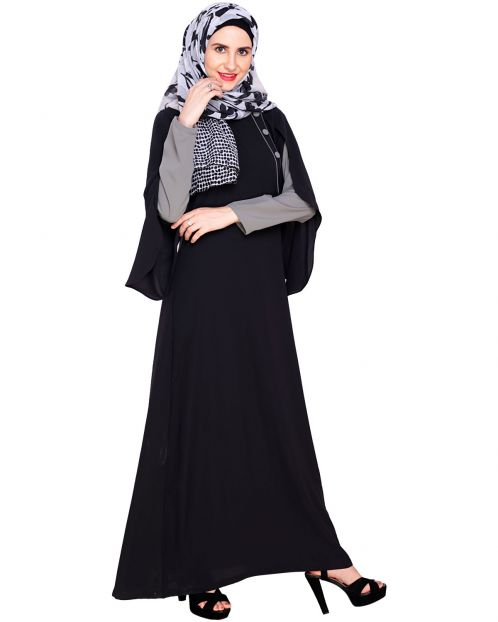 Tulip Sleeved Side Open Abaya