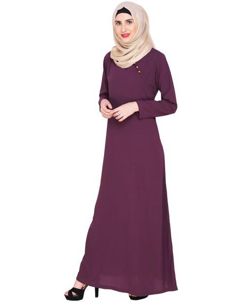 Purple Trendy Abaya Dress