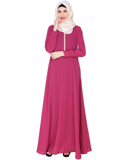 Fuchsia Maxi Dress Abaya