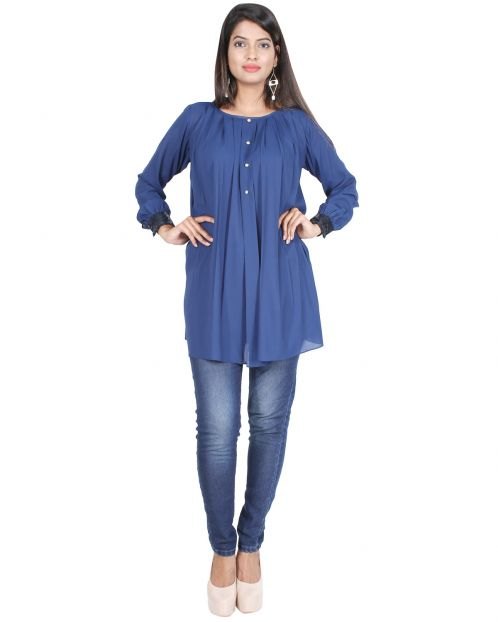 Shimmered Lace Sleeved Tunic