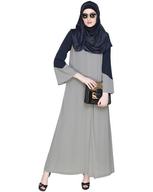 Folksy Grey Abaya