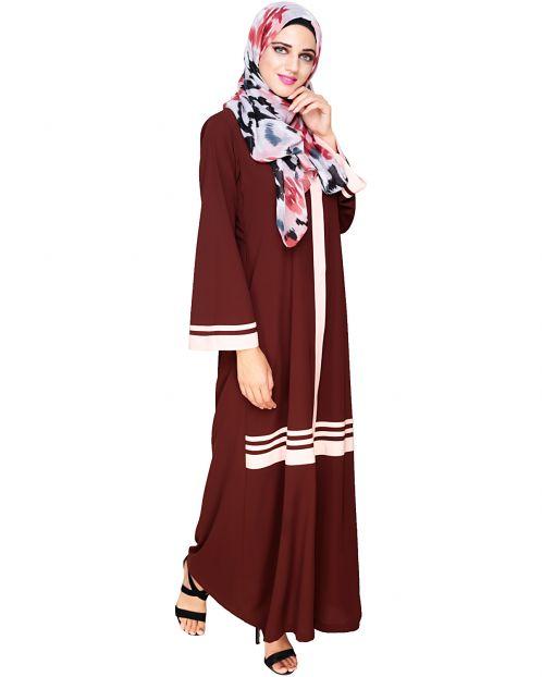 Elementary Brown Abaya