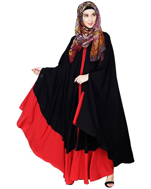 Colour Block Black Irani Kaftan