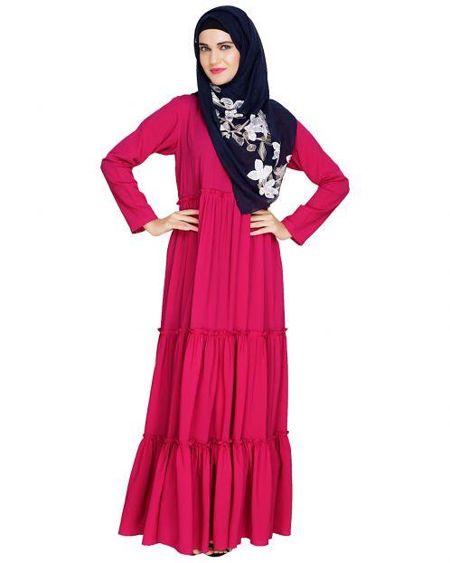 Modest Fuschia Abaya