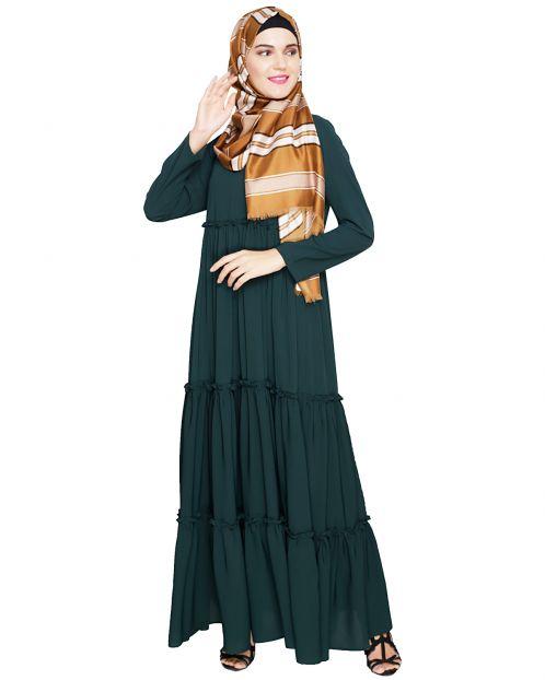 Modest Green Abaya