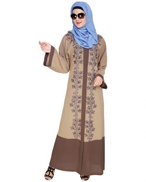 Bedazzled Brown Dubai Style Abaya