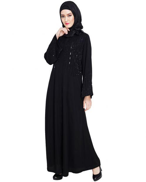 Posh Black Dubai Style Abaya