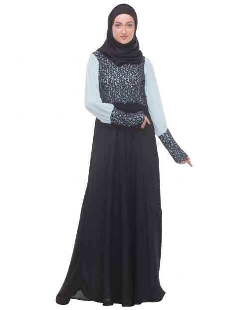 Classic Black Evening Wear Abaya