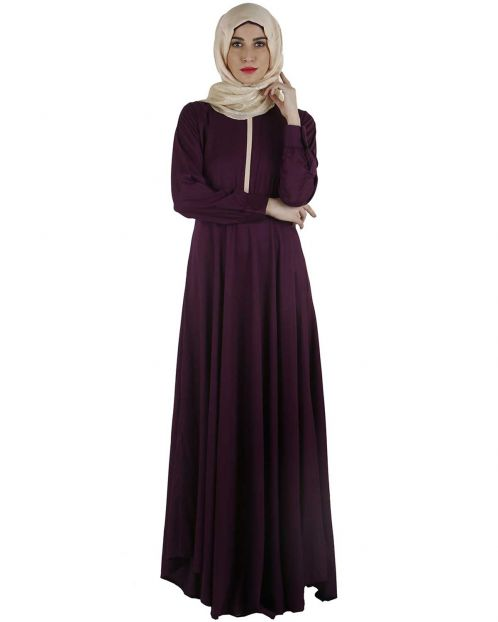 Purple Maxi Dress Abaya