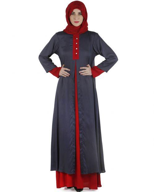 Double layered abaya dress