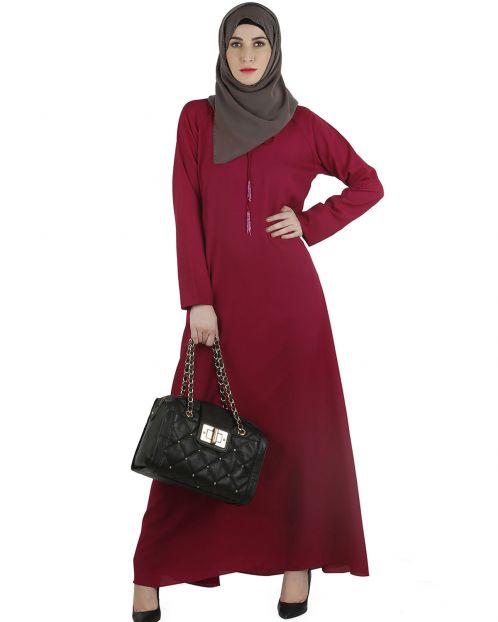Tassel strings maxi abaya
