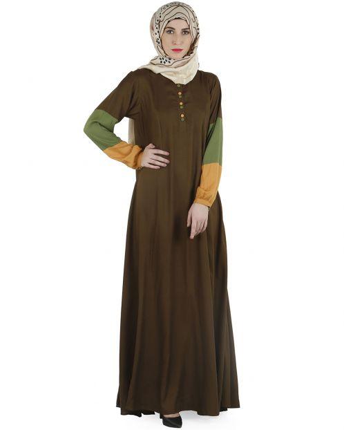 Color block  Abaya dress