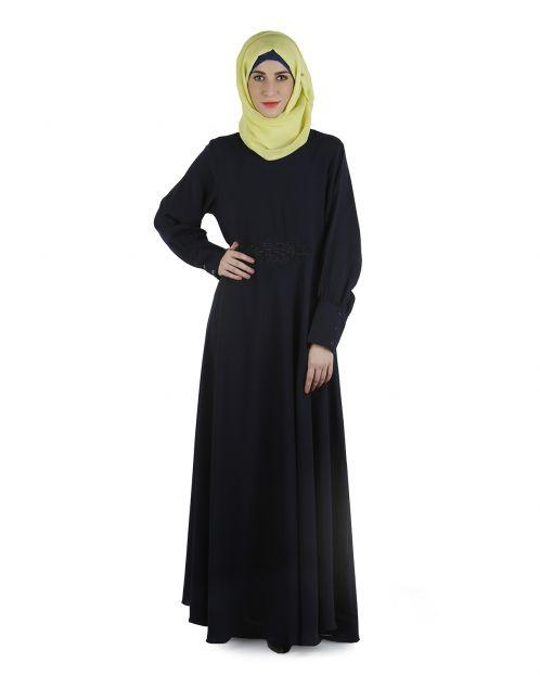 Steel blue abaya dress