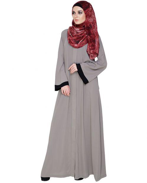 Vintage Grey Abaya