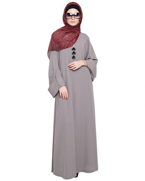 Classy Tapa Grey Abaya