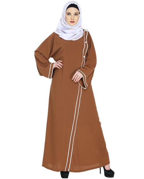 Deep Tan Casual Abaya