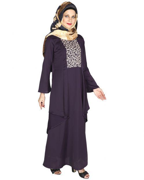 Newfangled Purple Abaya