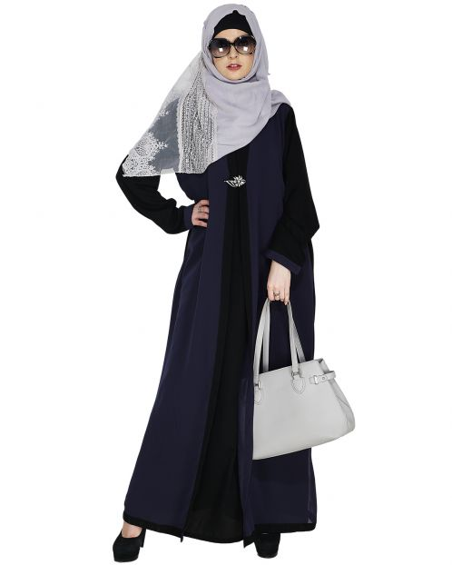Layered Blue Maxi Dress Abaya