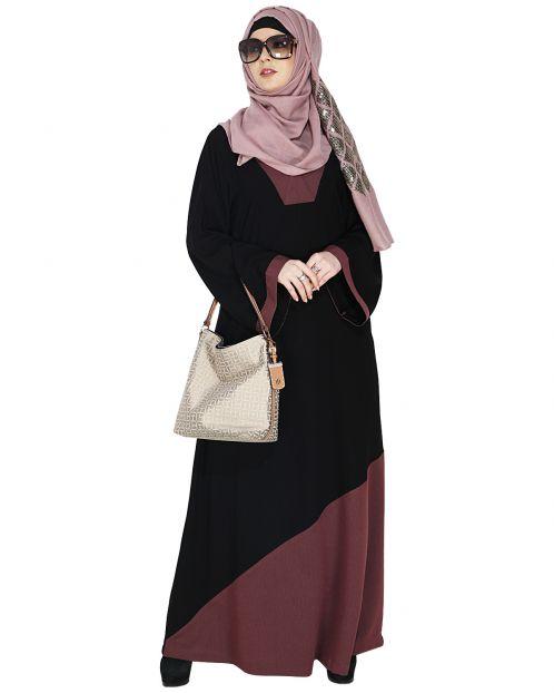 Casual Purple Highlighted Abaya