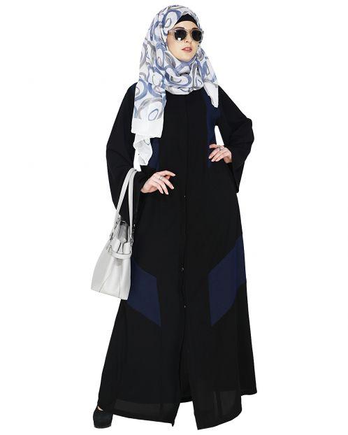 Modest Dark Blue Abaya