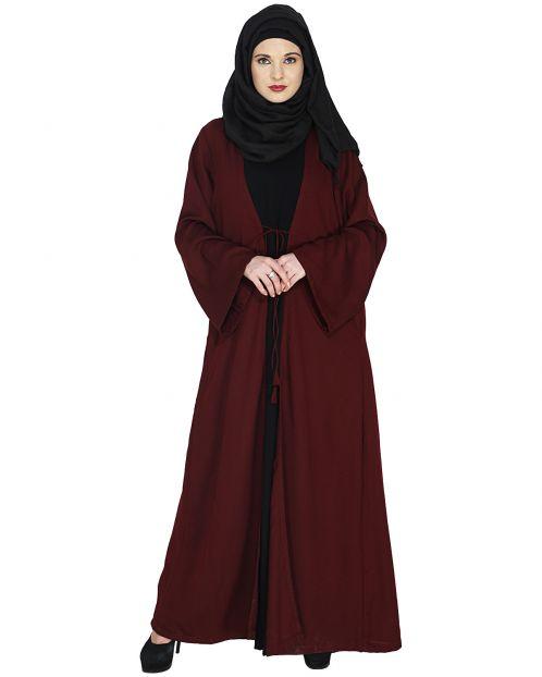 Jacket Styled Closed Abaya