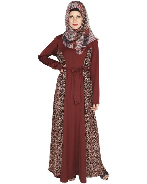Opulent Wine Velt Abaya