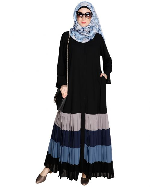 Pleated Multi Color Abaya