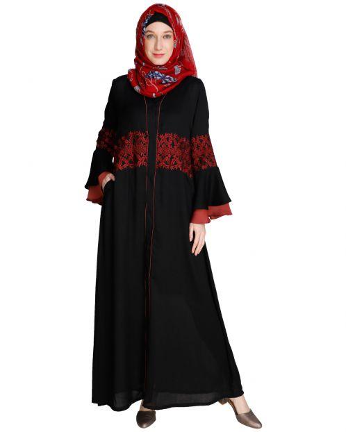 Jingle Bell Black Abaya
