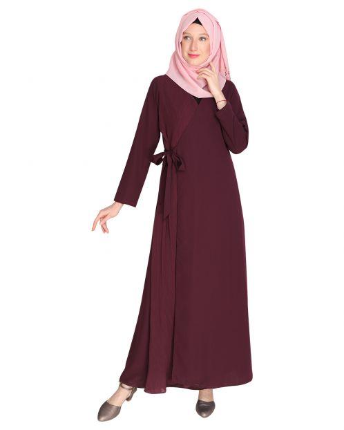Angarkha Style Purple Abaya