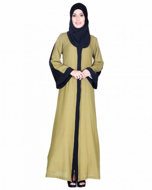 Balck And Green Abaya