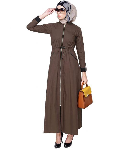 Drawstring Coat Abaya