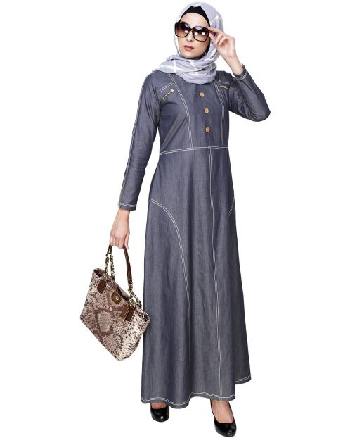 Modish Denim Abaya