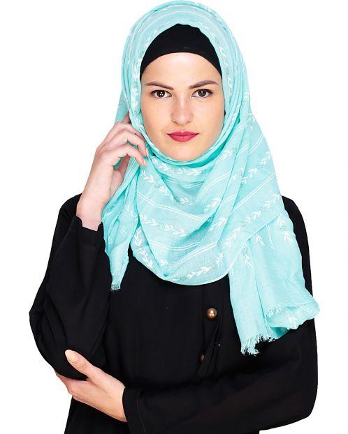 Floral Mist Mint Hijab