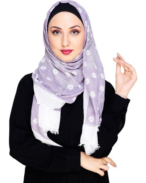 Sombre Purple Hijab