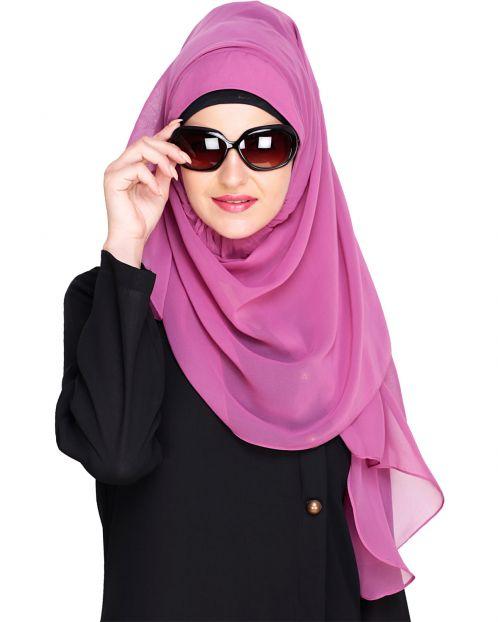 Plain Onion Pink Instant Hijab