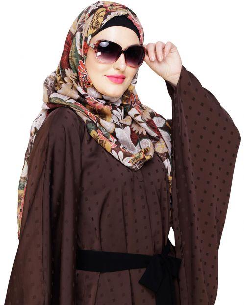 Leaf printed Ochre Hijab