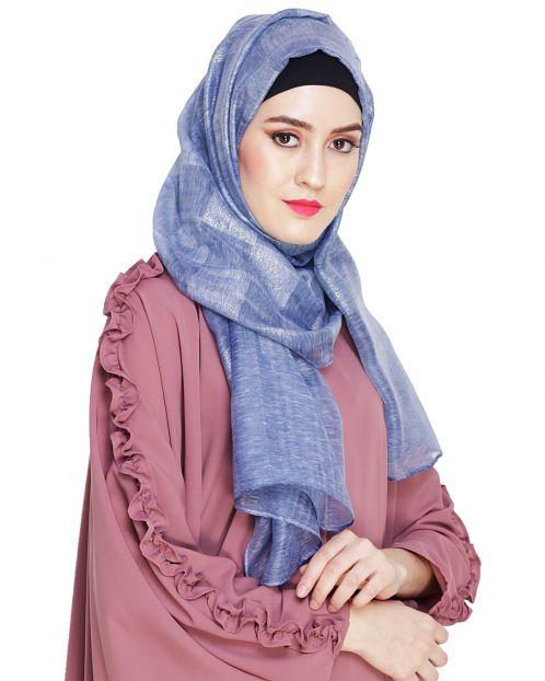 Pretty Checkered Blue Hijab