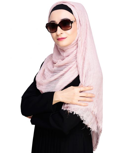 Alluring Shimmer Baby Pink Hijab