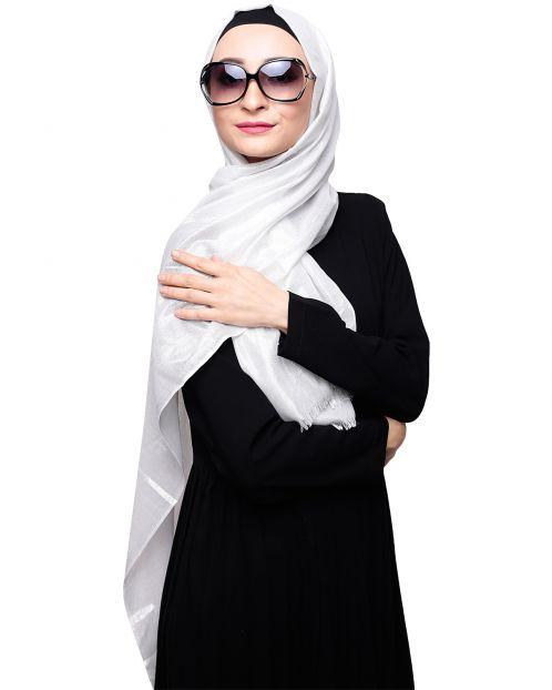 Diva Silver Shimmer Hijab