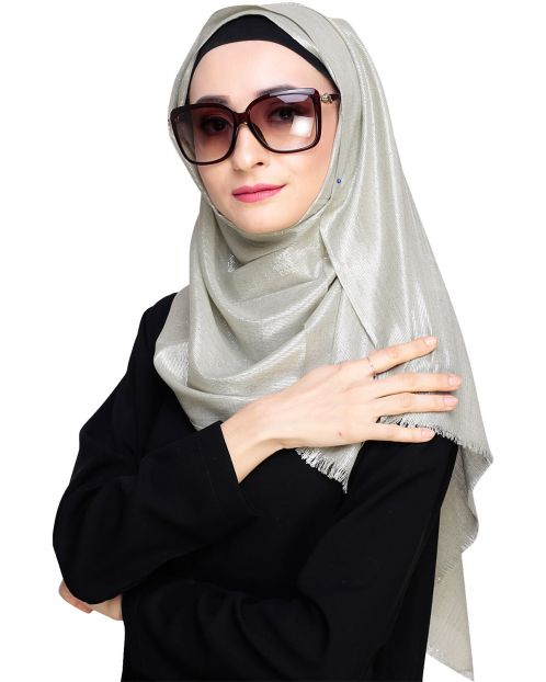 Diva Dead-Mint Shimmer Hijab