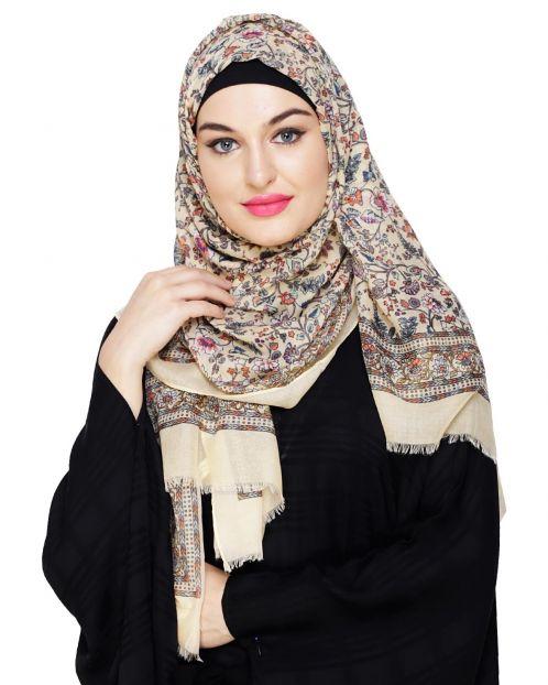 Summer Printed Yellow Hijab